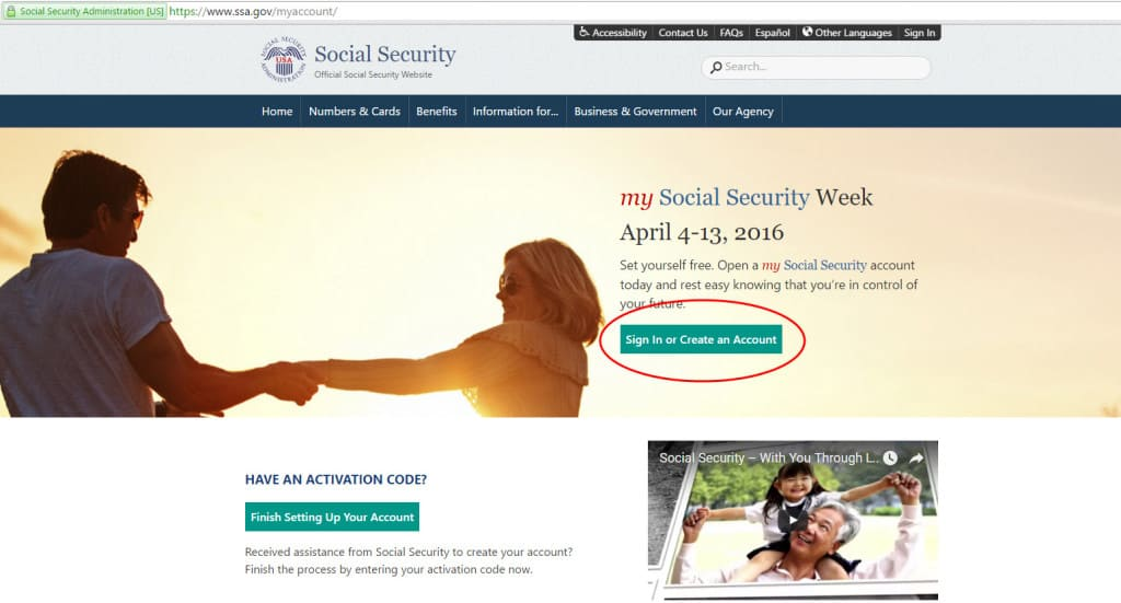 my social security account sign in page