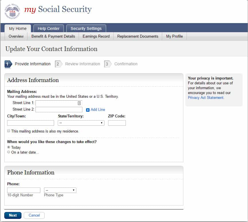 Social Security Change Of Address  How To Guide